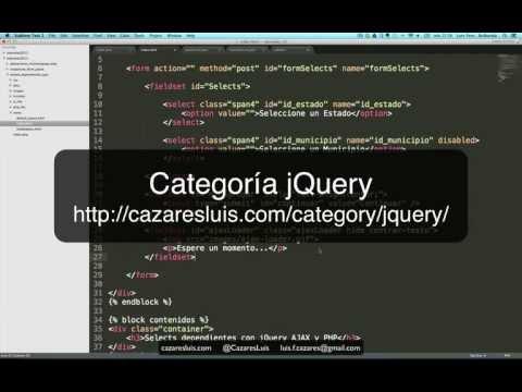 Selects dependientes con jQuery AJAX y PHP