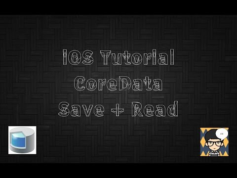 iOS Tutorial CoreData in Swift 3 with Xcode 8 Part 1: Save & Fetch