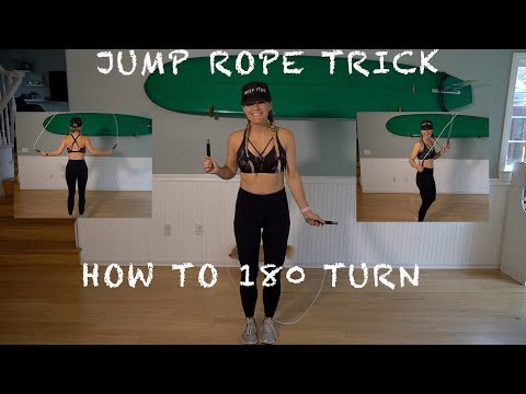 Learn How To 180 Turn Jump Rope Trick Tutorial ~ Beginner