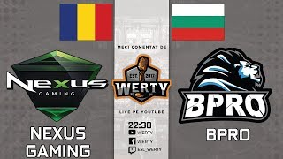 🔴(LIVE RO CS:GO) NEXUS GAMING (RO) vs. BPRO (BG) -- ESEA MDL PLAYOUT