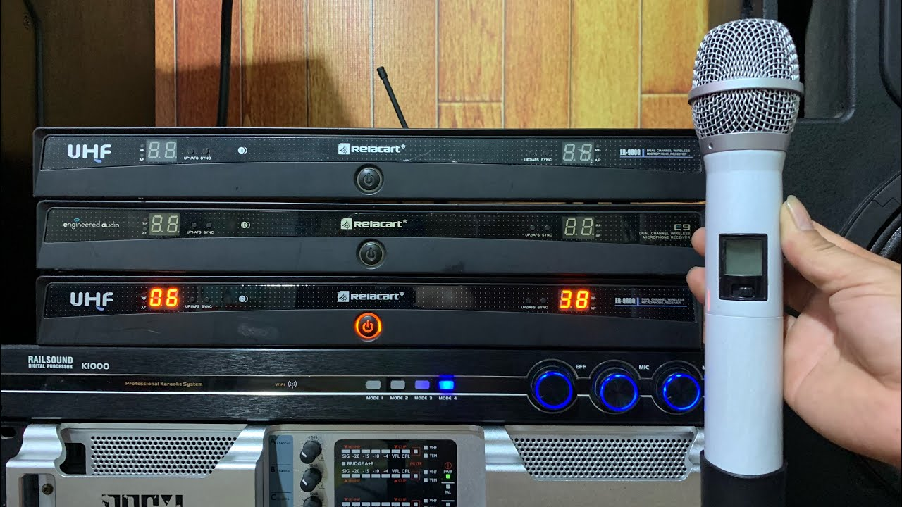 Mic chuyên sự kiện karaoke bao hay sóng xa RELACART công nghệ Mỹ giá 2tr500 bao ship lh 0352920999