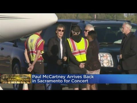 Paul McCartney Arrives At Sacramento Executive Airport