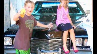 Classic Cadillac Splash Fest! Got the Caddy & Kids Clean. LOL...