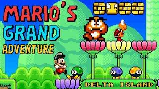 Mario's Grand Adventure: Delta Island (2021) / Complete Playthrough / SMW ROM Hack