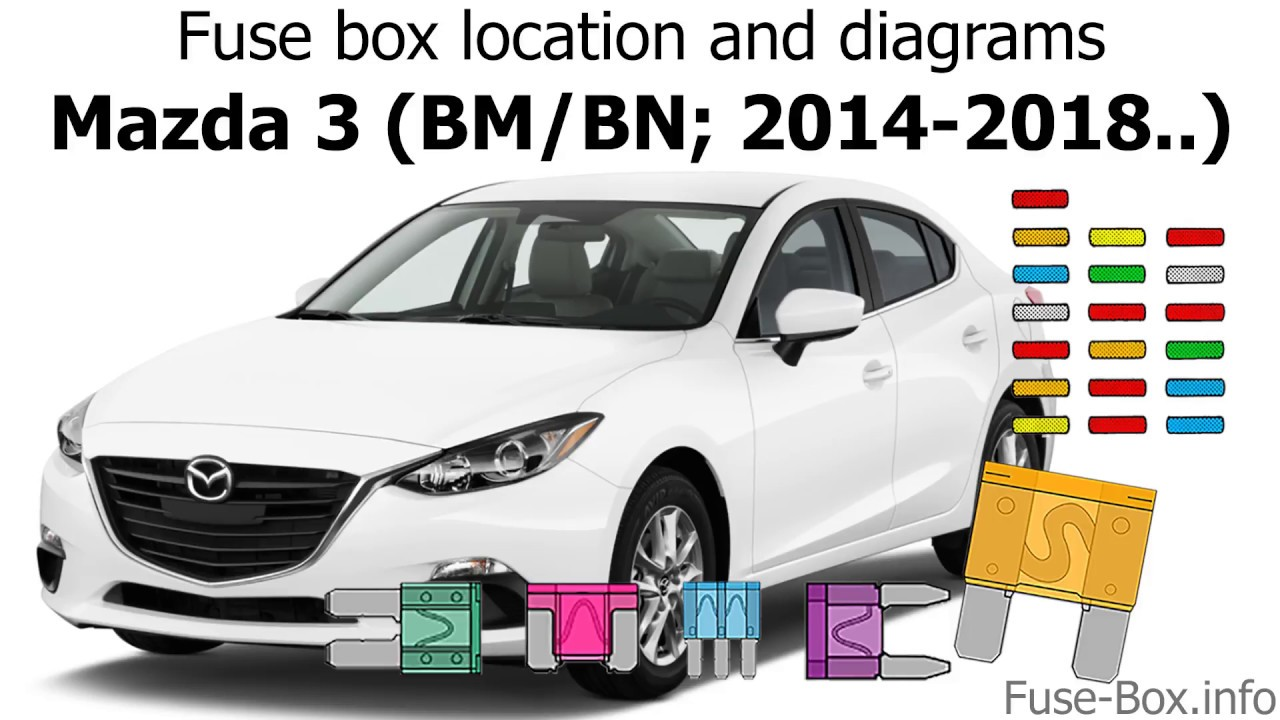 Fuse Box Location And Diagrams  Mazda 3  Bm  Bn  2014