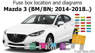Fuse box location and diagrams: Mazda 3 (BM/BN; 2014-2018) - YouTube | 2014 Mazda 3 Gt Fuse Box Diagram |  | YouTube