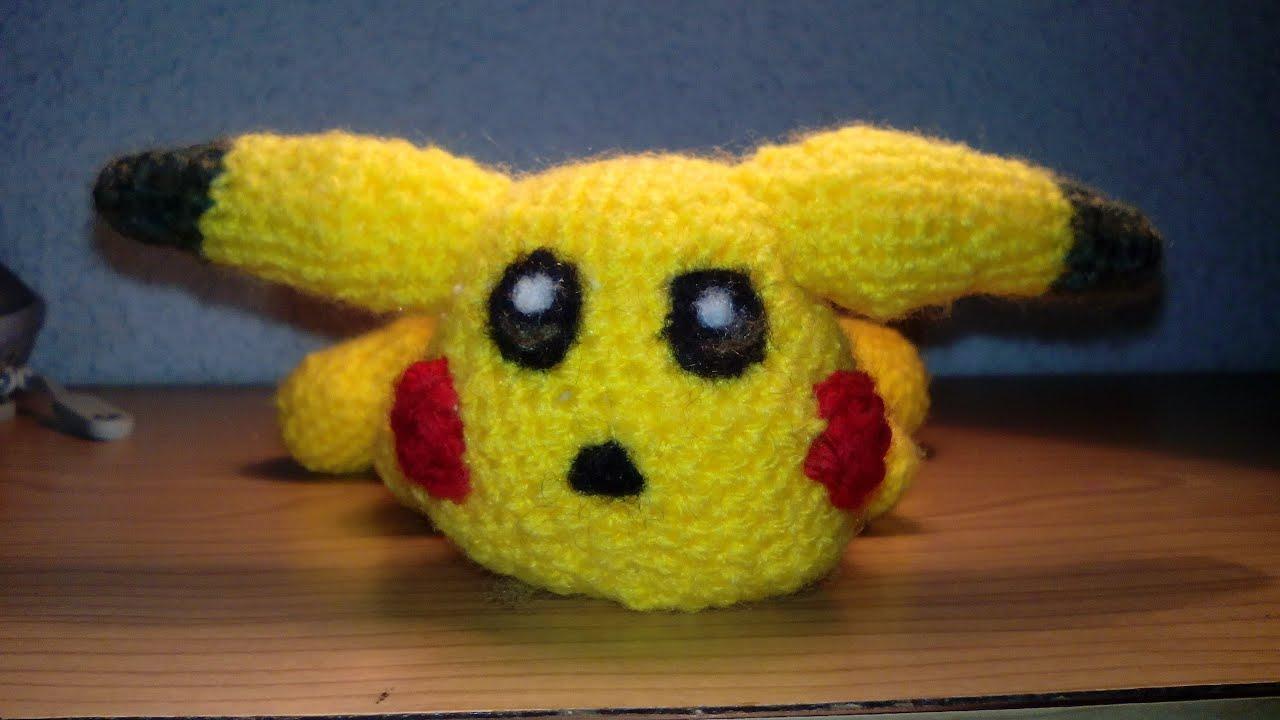 Pikachu amigurumi, patrón en la descripción - YouTube