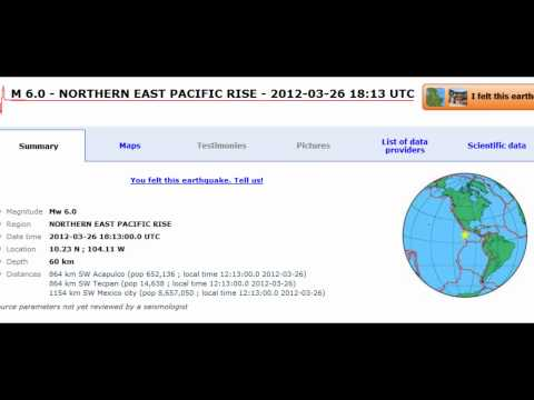 M 6.0 EARTHQUAKE - NORTHERN EAST PACIFIC RISE 03/26/12