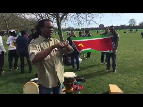 Bel Fos Ba La Guyane at Hyde Park, speakers' corner