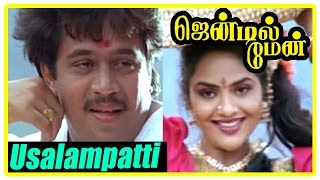 Gentleman Movie Scenes | Arjun gets emotional | Usalampatti Penkutti Song | Madhoo | Goundamani