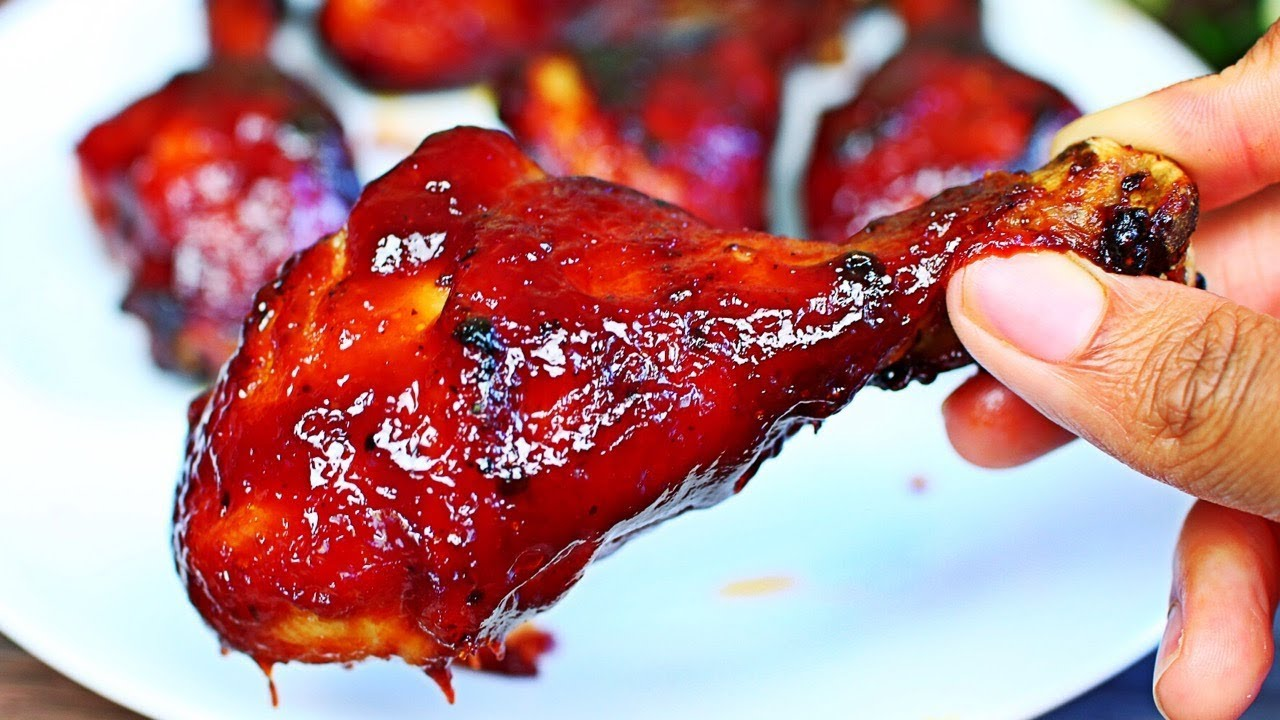 Air Fryer Barbecue Chicken Recipe Easy Barbecue Bbq Chicken Youtube