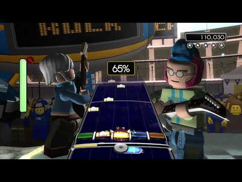 "Lego Rock Band- ""Life Is A Highway"" Expert Guitar 100% FC (175,227)"