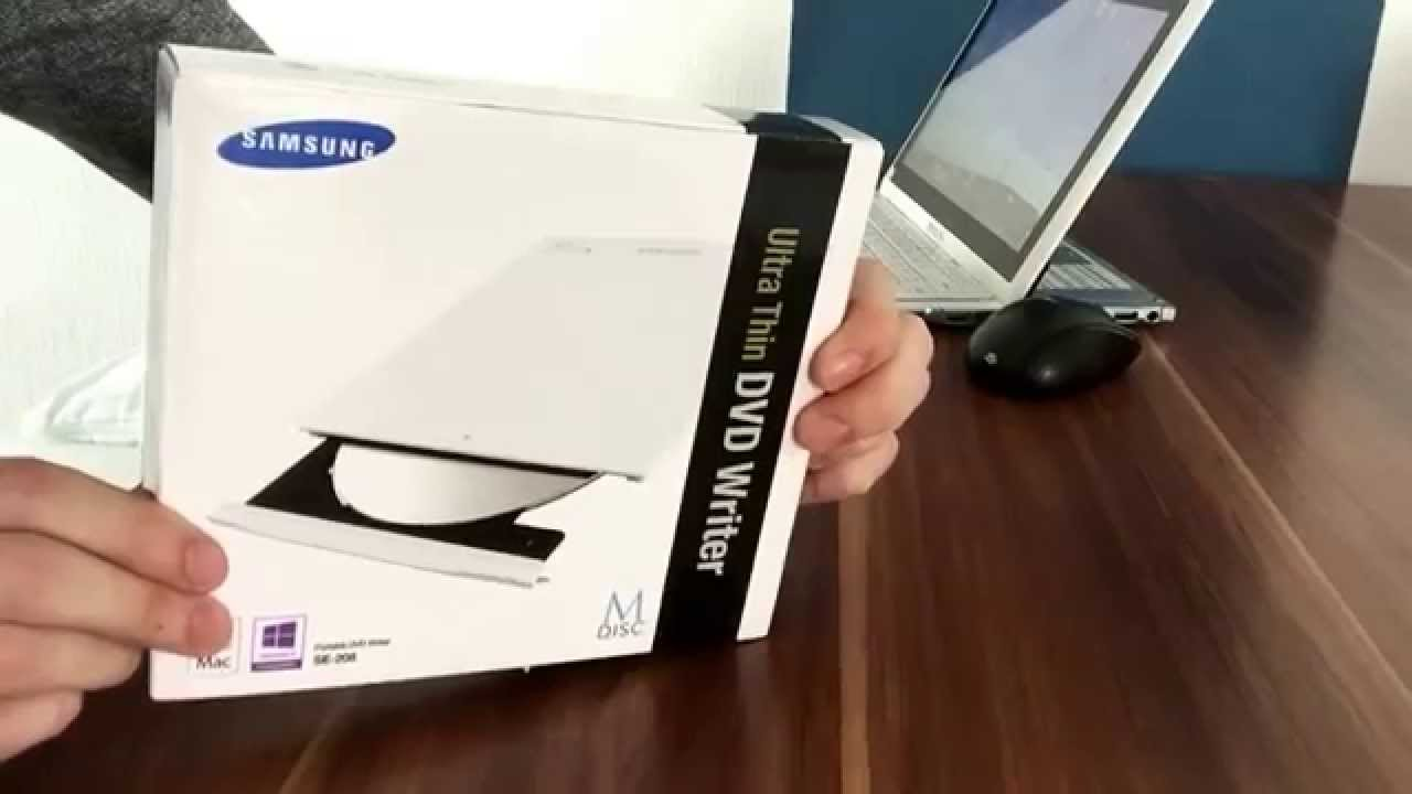 Samsung Ultra Thin Dvd Writer Se-208 Se 208 Unboxing