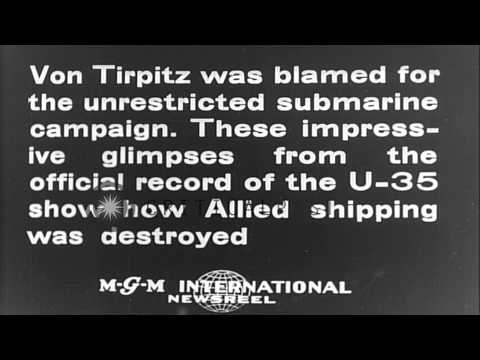 German Admiral Alfred Von Tirpitz at military ceremony in Germany; WWI scenes of.HD Stock Footage