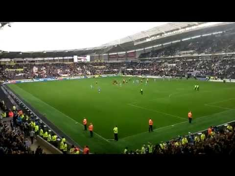 Manchester city at Hull: End of match (one James Milner and Here's to you Vincent Kompany)