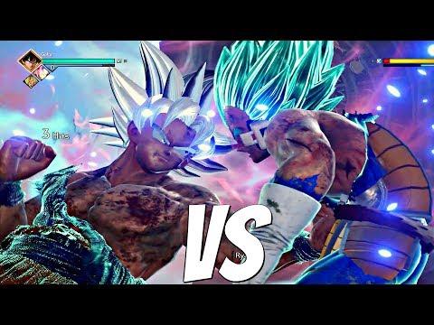 JUMP FORCE - Ultra Instinct Goku Vs Vegeta SSB 1vs1 Gameplay