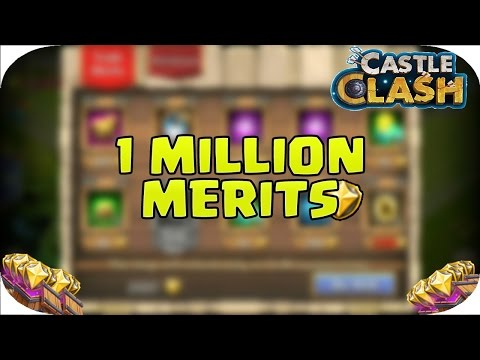 1 MILLION MERITS! Reaching Castle Clash Limits Warehouse