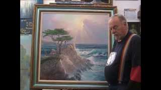 Lone Cypress Prayer Painting for Healing & Peace