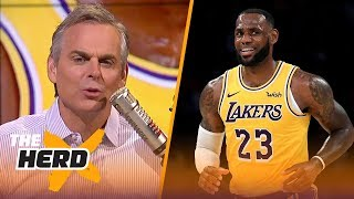 Colin Cowherd reacts to LeBron's home preseason debut for the Lakers   NBA   THE HERD