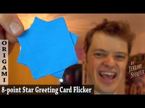 Origami 8-Pointed Ninja Star Greeting Card Flicker