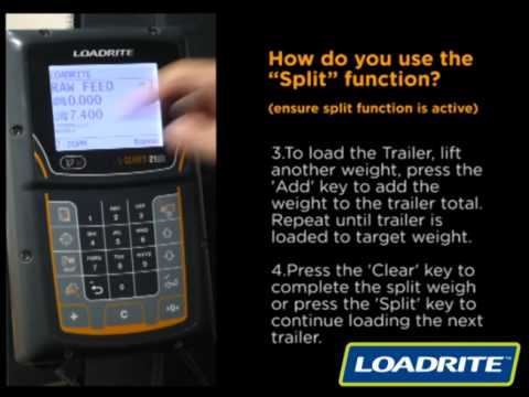 loadrite l2180 how to use the split function youtube rh youtube com Load Rite Wheel Loader Scales