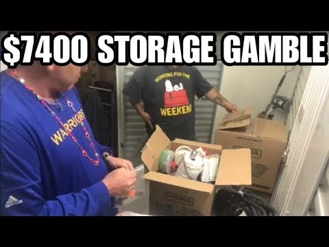 Surprise unbox #32 round 1 $7400 10 by 40 Storage auction buy, let the pirating begin