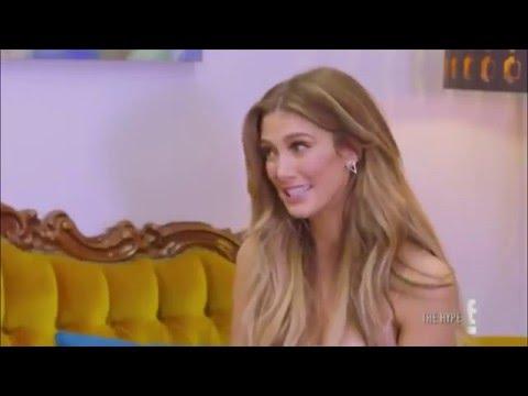Ksenija Lukich s celebrities on MTV's The Hype
