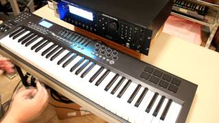 Keyboard playing techniques to emulate other instruments
