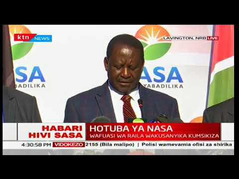 Raila Odinga says that Kenyans are not going to agree that democracy was played during the elections