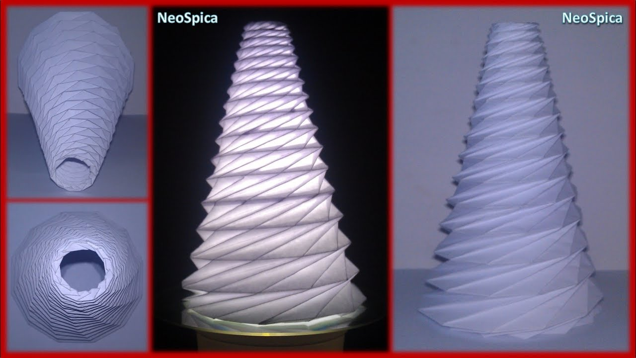 Conical Cylinder Origami Collapsible In Spiral Based On Dodecagon