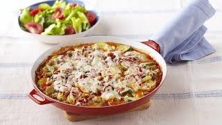 15 Second How To Make Skillet Vegetable Lasagna Video