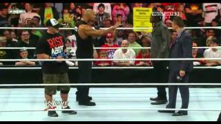 Wwe Raw Gets Rocked ! - The Rock Whoop Awesome Truths Candy Asses!!