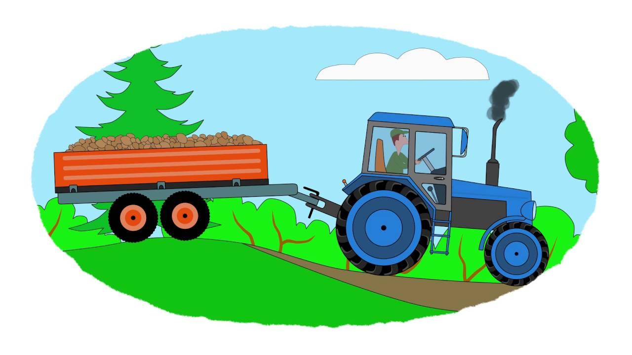 A colorear! - Los tractores Parte 1 - Vídeo educativo infantil - YouTube