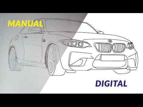 Como Desenhar Carros Bmw Serie 2 Coupe Passo A Passo Digital E