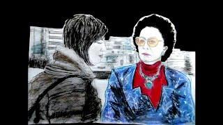 録画したドラマ『ナオミとカナコ』第9話から 李社長(高畑淳子さん)の...