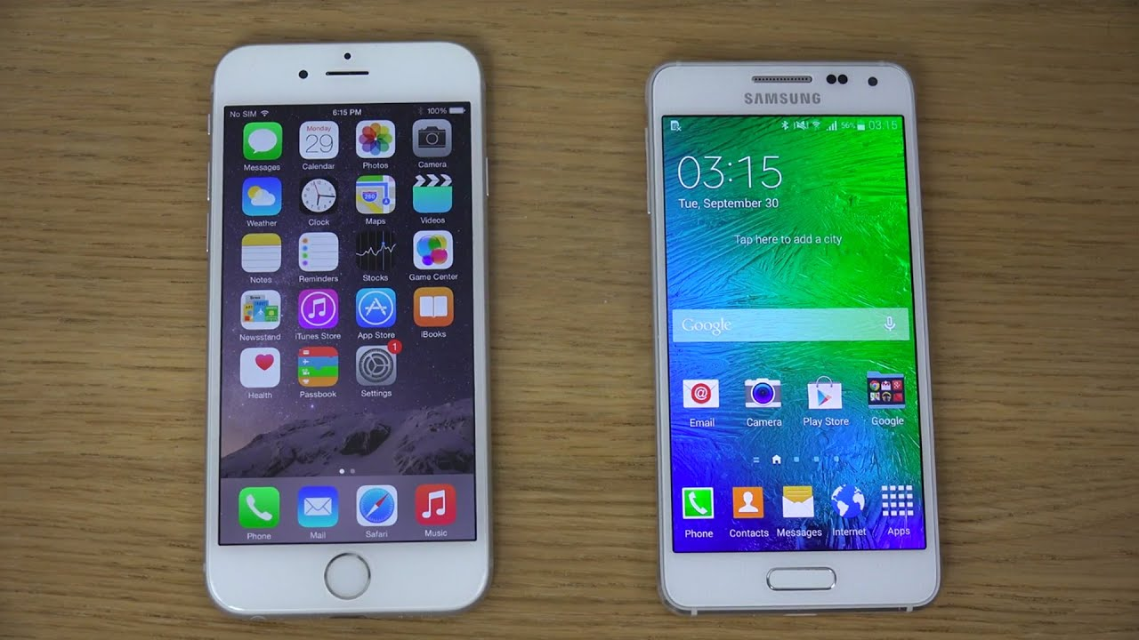 samsung galaxy vs iphone iphone 6 vs samsung galaxy alpha review 4k 2922