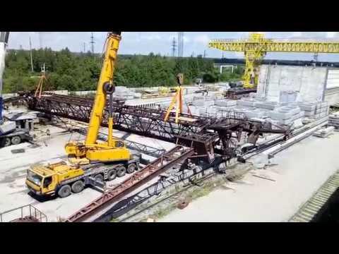 Демонтаж 50-и тонного козлового крана
