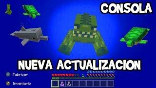 Como tener la Nueva Actualización Acuática en Minecraft De Consola Xbox One/Pocket Edition/W10 Beta