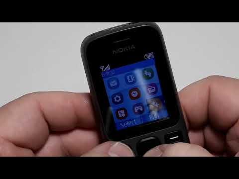 Nokia 100  состояние нового англ меню наговорено  Life Timer 33:11