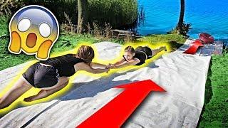 EXTREMALNY WATER SLIDE DO JEZIORA / LUURE Z EKIPA *GROŹNE WYPADKI !!!*
