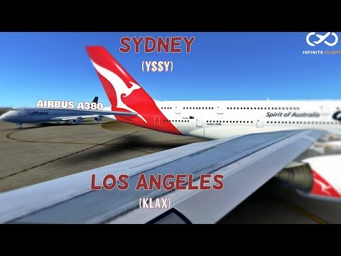 Infinite Flight Global Timelapse - (YSSY) Sydney - (KLAX) Los Angeles - Airbus A380
