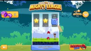 Angry Birds The Mighty League Tutorial & Glass league Let