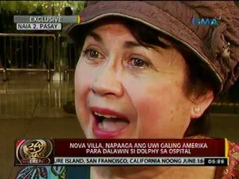 24oras: Nova Villa, napaaga ang uwi galing Amerika para dalawin si Dolphy sa ospital