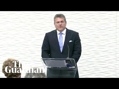 Brexit: EU's Šefčovič makes statement on Northern Ireland tr