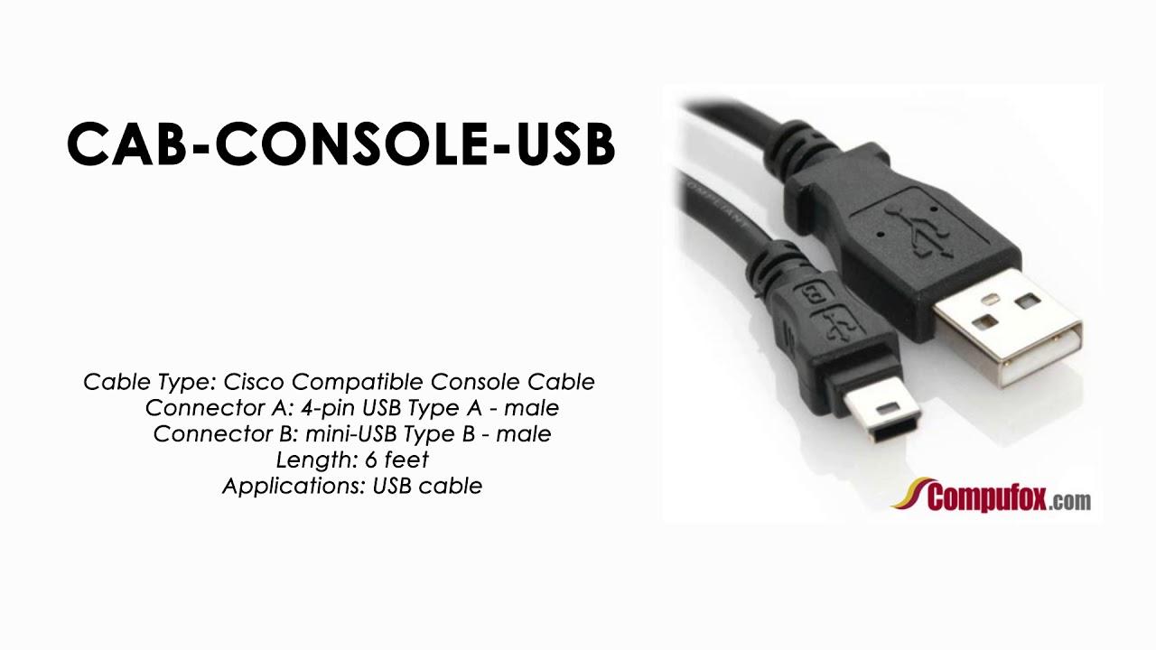 Cab Console Usb Cisco Compatible Usb Type A Male To Mini