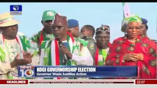 News@10: Kogi Governorship Election: PDP Alleges Rigging Plan 15/11/15 Pt. 1