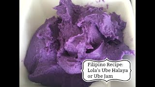 Filipino Recipe: Lola&#39s Ube Halaya or Ube Jam