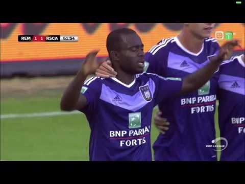 Goal Frank Acheampong Mouscron-Peruwelz 1-1 Anderlecht