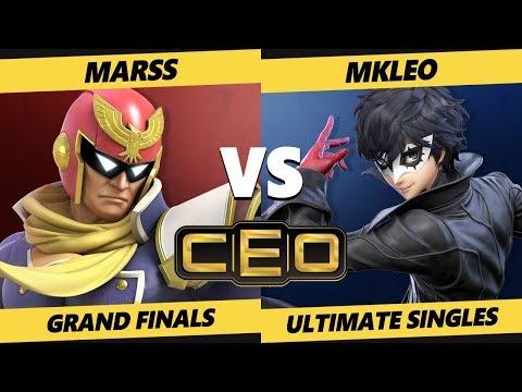 CEO 2019 SSBU - FOX | MkLeo (Joker) Vs. PG | Marss (ZSS, Falcon) Smash Ultimate Grand Finals