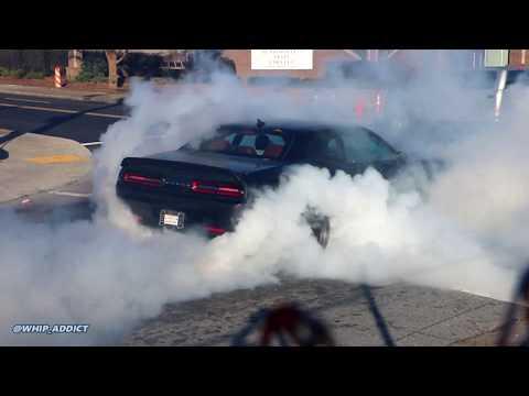 WhipAddict: First 2019 Dodge Challenger Hellcat Redeye in Atlanta! Street Burnout